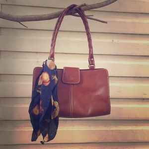 Patricia Nash leather shoulder bag